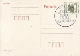 DDR P 107 I  Goethe-Schiller-Denkmal - Druckv. Höher Stehend - Postkarten - Gebraucht