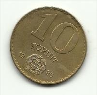 1986 - Ungheria 10 Forint, - Hongrie