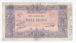 "BILLET DE 1000 FRANCS ""BLEU ET ROSE"" Du 4 SEPTEMBRE 1926  .Série O.2718 - 1 000 F 1889-1926 ''Bleu Et Rose''"