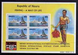 """Nauru - 1981 - Fishing/""""WIPA 1981"""" Miniature Sheet - MNH - Nauru"""