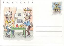 Norwegen Michel Nr. K 56 ** Der Mäusebäckermeister - Kartenbrief 250 Öre - Postwaardestukken