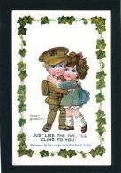 """ENFANTS - Jolie Carte Fantaisie Enfants """"Just Like The Ivy, I'll Cling To You  """" - Signée FRED SPURGIN - Spurgin, Fred"""