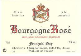 Etiquette De BOURGOGNE ROSE AC François Gap. - Bourgogne
