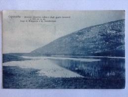 CARTOLINA  CAPRACOTTA STAZIONE CLIMATICA ESTIVA E DEGLI SPORTS INVERNALI  VIAGGIATA ANNO 1912 LAGO DI MINGACCIO - Isernia