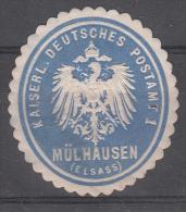 Mulhouse - Vignette KAISERL. DEUTSCHES POSTAMT  / MÜHLAUSEN (ELSASS) - Bleu - Elsass-Lothringen