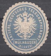 Mulhouse - Vignette KAISERL. DEUTSCHES TELEGRAPHENAMT  / MÜHLAUSEN (ELSASS) - Bleu - Elsass-Lothringen