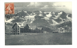 Cp, 05, Le Lautaret, Les Hôtels Et Le Massif Du Combeynot, Voyagée - Francia