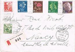 Lettre Oblitération  . GENEVE. Pour . NANCY. Du . 6 . 12 . 1948  . - Schweiz