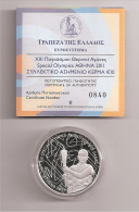 10 EURO Silver Proof Comemmorative Coin 2011 (Special Olympics) Very Rare!! SILVER PROOF!! - Greece