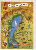 Burgenland NEUSIEDLERSEE - Landkarte  Mitteleuropa's Größter Steppensee MAP MAPPA MAPA - Landkarten