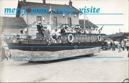 Cp 02 LA FERE En TARDENOIS Cavalcade Le Paquebot Normandie A La Gare ( Camion Automobile ) Fête De 1935 Char Des  Marins - Fere En Tardenois