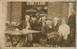 DAMPREMY CARTE PHOTO CAFE GREFFE RUE DES FRANCAIS - Charleroi
