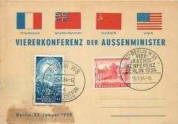1954  Vierkonferenz Der Aussenminister  MiNr 116 Mit DDE 424  Ersttagstempel  RAR! - [5] Berlijn