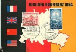 1954  Vierkonferenz Der Aussenminister  MiNr 116 Mit DDE 424   Berlin Ersttagstempel  RAR! - [5] Berlijn