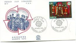 ANDORRA 1975 FDC Europa CEPT (2) - Europa-CEPT