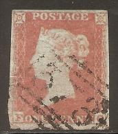 Grande-Bretagne (GB) Victoria 1841 - Penny Rouge Planche 169 FO Aminci (thined) Sur 2 Côtés - Oblitérés