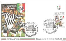 82316 )  FDC - Juve Campione  (1897 Cent´anni 1997 Di Juve)Catani C.P Giorno Di Emissione 7.6.97 - FDC