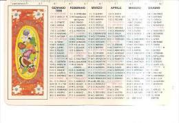 80494) Calendario Del 1999 Tema Natura Morta Ovale Con Frutti Tropicali - Cartoline