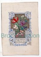 Image Pieuse Petite Rose, Tulipe Jaune Et Rouge, Violette, Souvenirs, Saint François De Sales, Croix, Gravure, 2 Scans - Devotion Images
