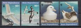 ROSS DEPENDENCY Mi. 50-53 WWF Weltweiter Naturschutz  Seevögel Der Antarktis  -MNH - Ross-Nebengebiet (Neuseeland)