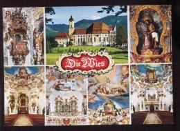 CPM Neuve Allemagne Die Wies Wallfahrtskirche Zum Gegeisselten  Eglise De Pélerinage - Weilheim
