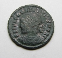 A ROMAN BRONZE COIN OF CONSTANTIUS II CAESAR ...AE3..GENUINE .....JUN5 - 7. El Impero Christiano (307 / 363)