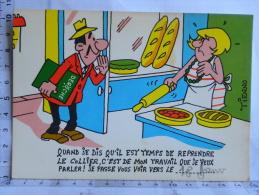 Carte Commerciale DEROCHE 94 Charenton - Illustrateur Tienno, Humour, Reprendre Le Collier, Travail - Other Illustrators