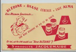 Buvard -bledine  DIASE CEREALE LAIT ALMA UNE MAMAN HEUREUSE BEBE 3 PRODUIT JACQUEMAIRE - Kids