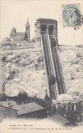 France Marseilles L'ascenseur et Notre-Dame de la Garde 1905