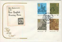 GB 1976 CAXTON FDC - 1971-1980 Decimal Issues
