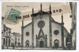 -  Pinerolo  - Piazza, S. Donato, Eglise, En 1909,  Animation, Splendide, Rare, écrite, 1908, TBE, Timbre Taxe, Scans. . - Churches