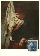 1957  Gemalde  Ein Junger Fahnenträger  MiNr 591 - DDR