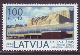 Latvia 2013. Dailes Theatre 1v. Pf. MNH - Latvia