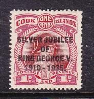 COOK ISLANDS: GEORGE V SILVER JUBILEE, 1d,MH * - Cook Islands