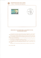 """ITALIA 1990 - Bollettino Con Annullo Speciale Illustrato - Sassone  1932 """"MKS Giorgi"""" - Fisica - Matematica - Paquetes De Presentación"""