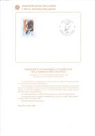 ITALIA 1989 - Bollettino Con Annullo Speciale Illustrato - Sassone  1866 - Emilio Diena - Paquetes De Presentación