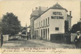 Court-Saint-Etienne : Entrée Du Village Et Sortie De La Gare  ( 1905 ) - Court-Saint-Etienne