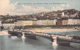 69 LYON LE PONT MORAND QUAI SAINT CLAIR ET COTEAU DE LA CROIX ROUSSE - Lyon