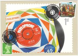 Beatles Music Musique Royal Mail Maximum Card Vinyle EP Love Me Do Disque Microsillon Final World Tour Special Postmark - Musique