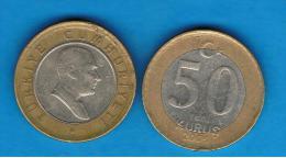 TUQUIA -  50 Kurus  BIMETAL - Turquia