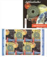 """GEORGIA - EUROPA 2009 (2010) - TEMA  """"ASTRONOMIA"""" - CARNET Con HOJA BLOQUE O PANE De 4 SERIES INVERTIDAS - Europa-CEPT"""