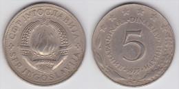 Yugoslavia -5 Dinara - 1973 - KM 58 - VF+ - Jugoslawien