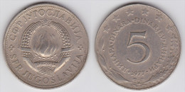 Yugoslavia -5 Dinara - 1975 - KM 58 - XF+ - Jugoslawien