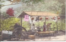 7828 -  Rickshaw à L´arrêt Terrasse Préparation Du Repas - Japon