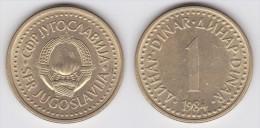 Yugoslavia -1 Dinar- 1984 - KM 86 - XF - Jugoslawien