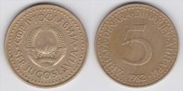 Yugoslavia -5 Dinara- 1983 - KM 88 - XF+ - Jugoslawien