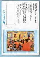 Calendrier Petit Format 1994 La Poste Illustrateur ? - Bureau De Poste Guichet Cabine De Téléphone Facteur  ... - Small : 1991-00