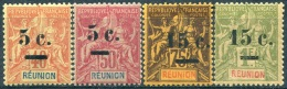 Y&T  N° 52-55 **...LUXE - Réunion (1852-1975)