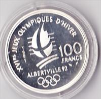100 Fr Argent Albertville 1992 Ski De Fond - N. 100 Francs