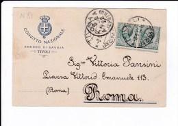 Storia Postale - Cartolina - Convitto Nazionale - Amedeo Di Savoia - Tivoli Viag.1912 - - 1900-44 Vittorio Emanuele III